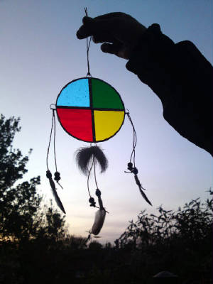 Shamanic Glass medicine wheel